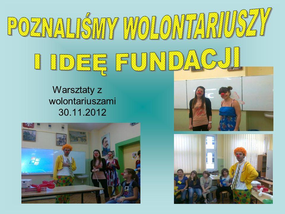 Warsztaty z wolontariuszami 30.11.2012