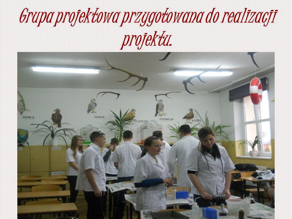 Grupa projektowa przygotowana do realizacji projektu.