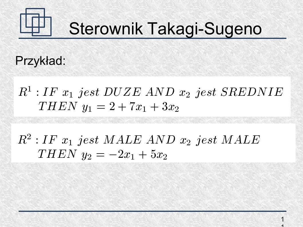 1 Sterownik Takagi-Sugeno Przykład: