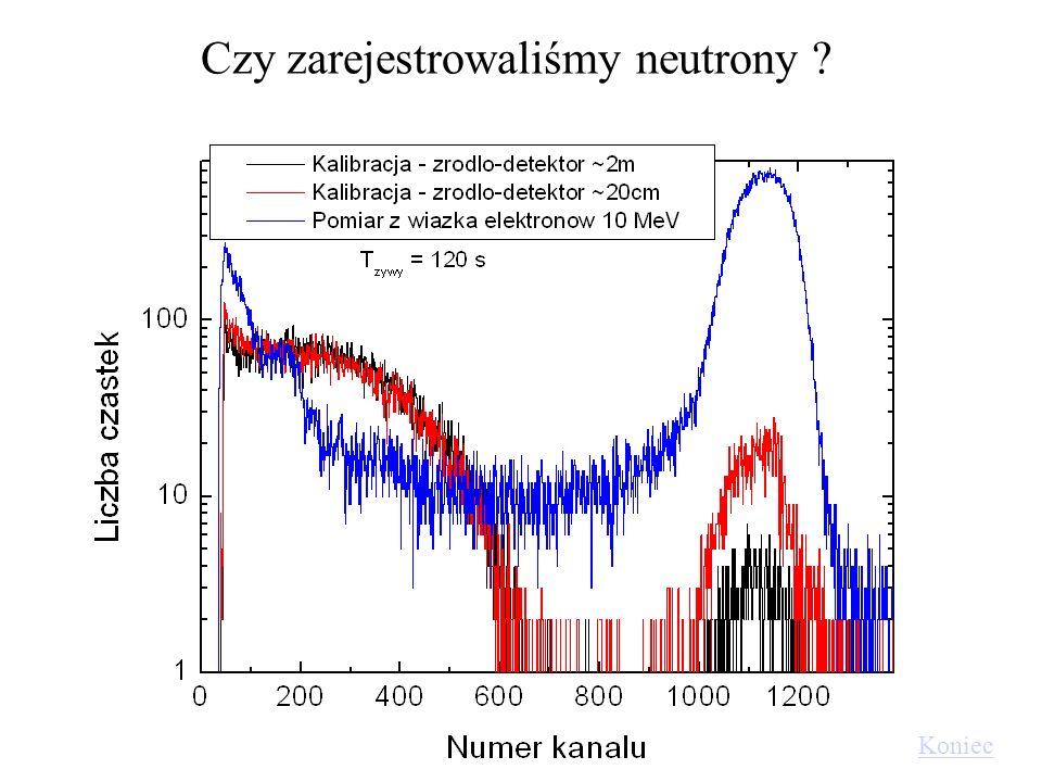 Czy zarejestrowaliśmy neutrony ? Koniec