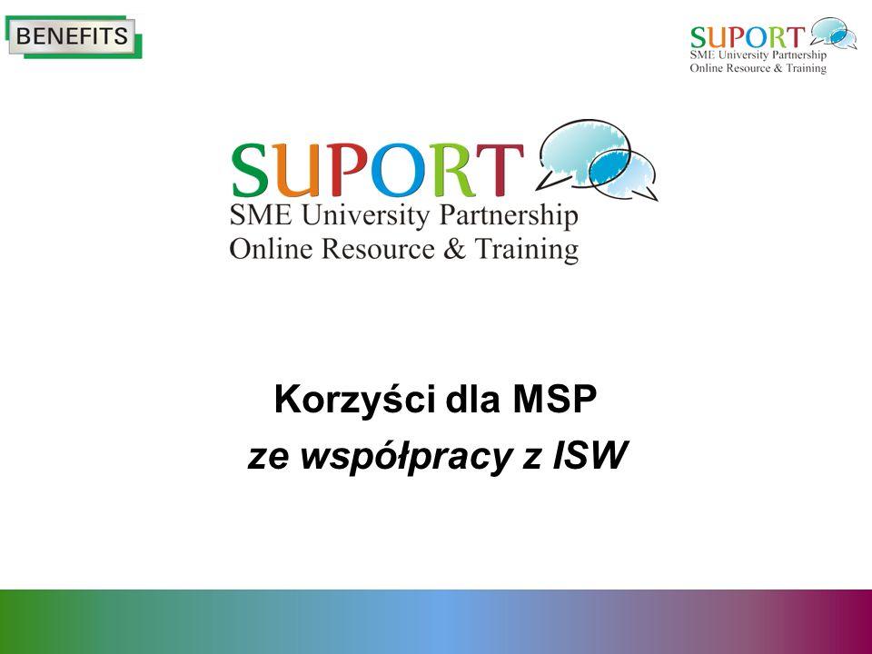 Korzyści dla MSP ze współpracy z ISW