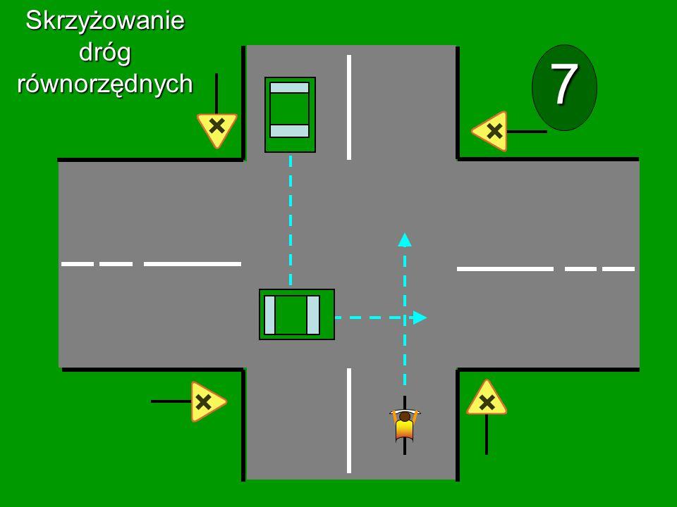 Skrzyżowanie dróg równorzędnych 7
