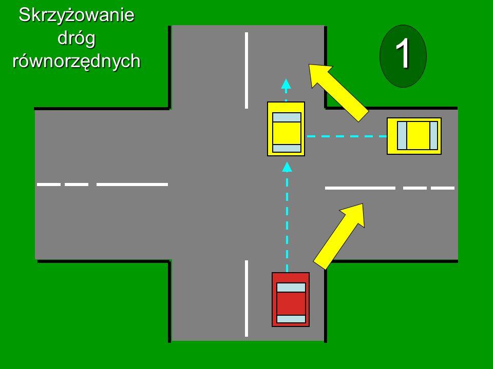 Skrzyżowanie dróg równorzędnych 1