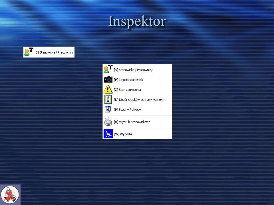Inspektor – Wypadki – uzupełnianie formularzy