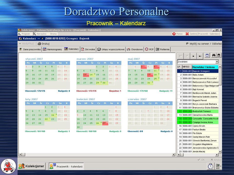 Doradztwo Personalne Pracownik – Kalendarz