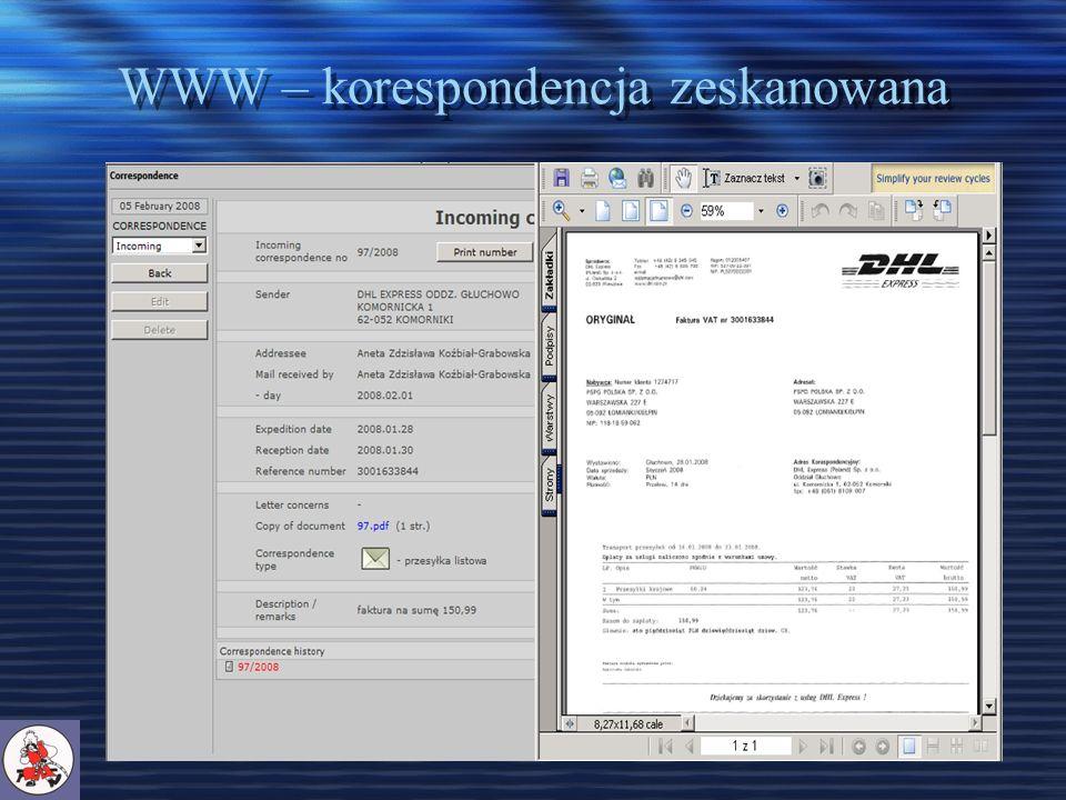 WWW – korespondencja zeskanowana