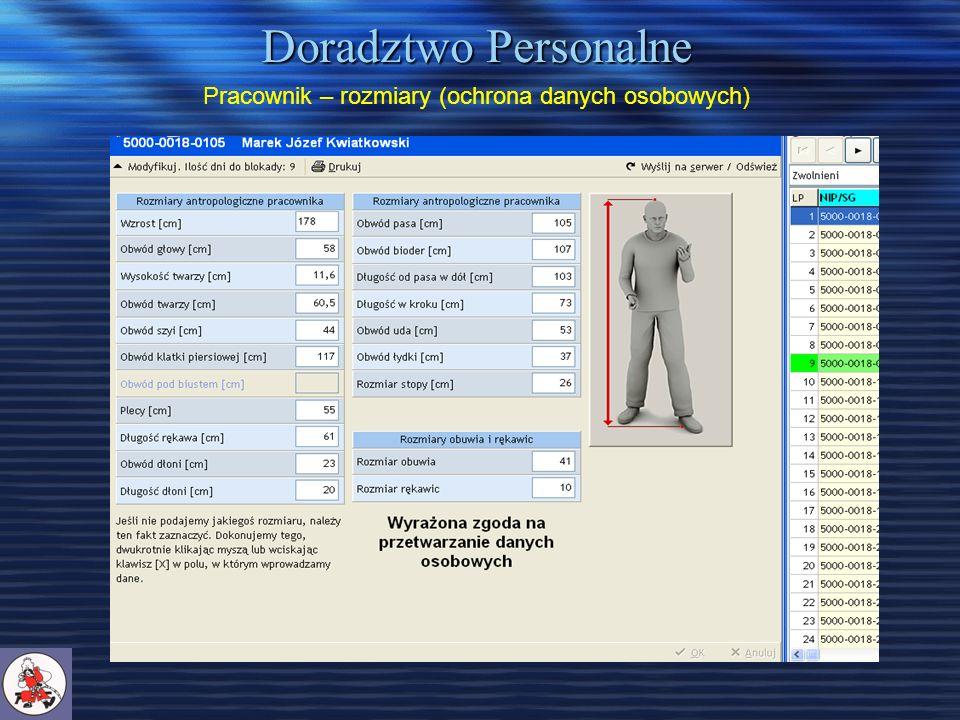Doradztwo Personalne Pracownik – rozmiary (ochrona danych osobowych)