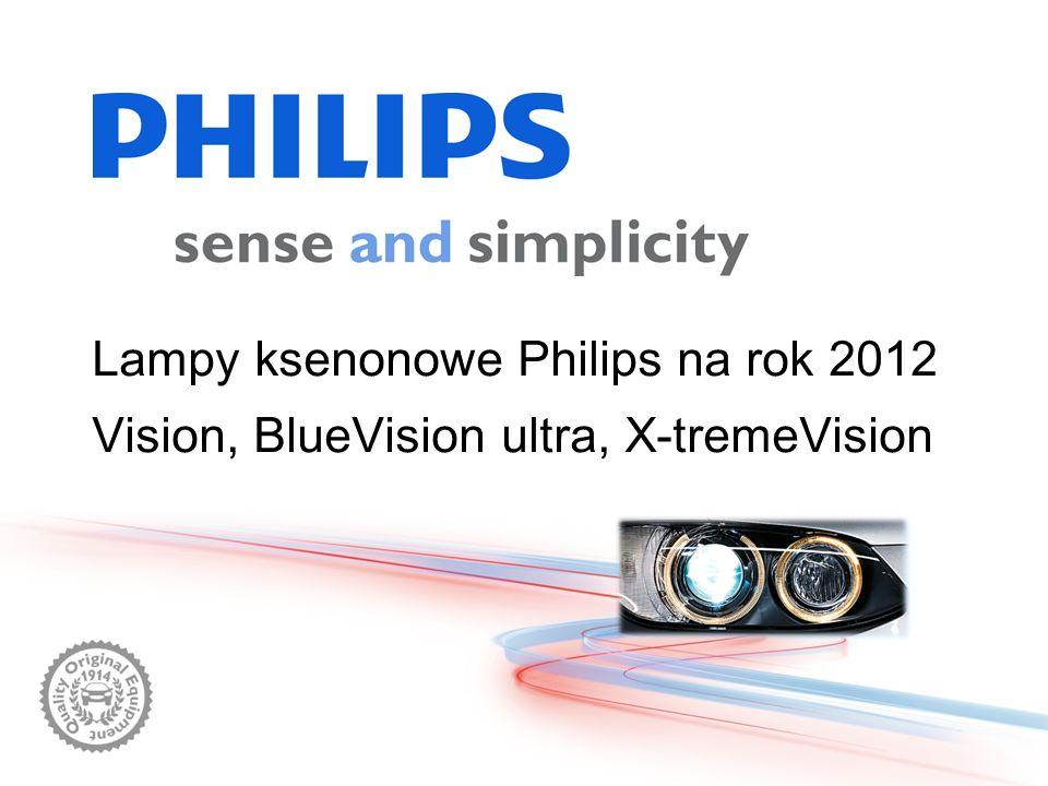 Lampy ksenonowe Philips na rok 2012 Vision, BlueVision ultra, X-tremeVision