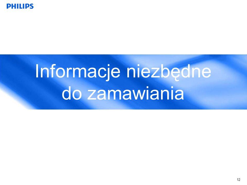 Informacje niezbędne do zamawiania 12