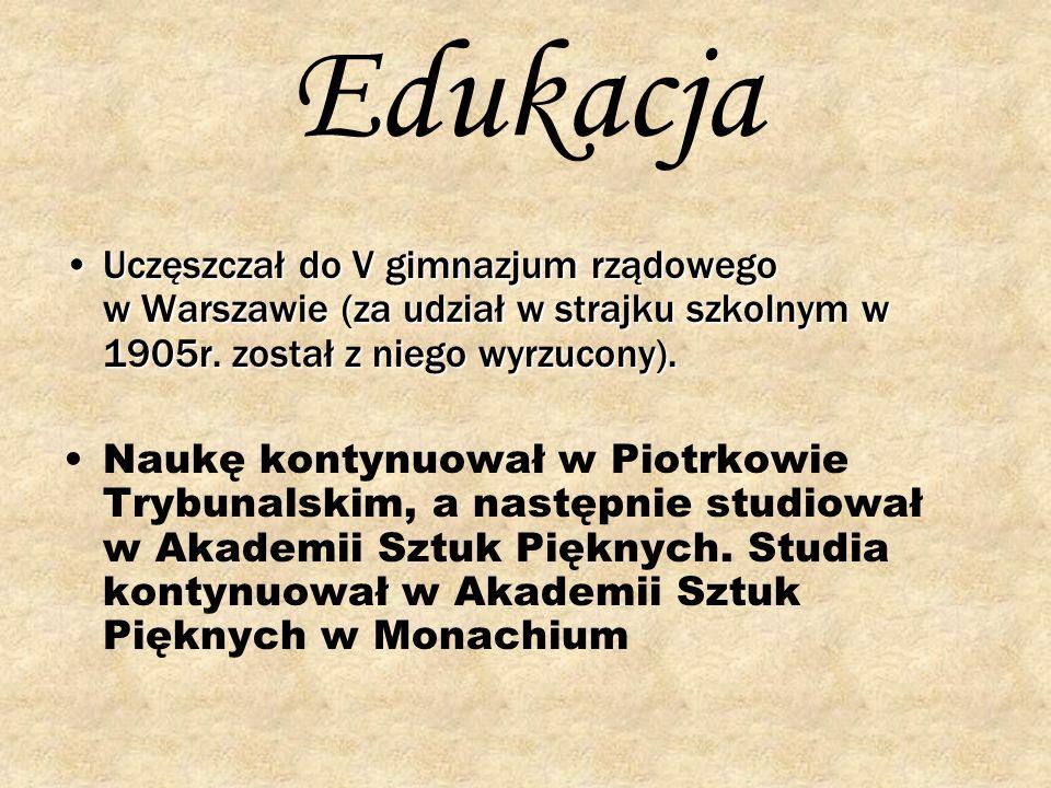 Edukacja Uczęszczał do V gimnazjum rządowego w Warszawie (za udział w strajku szkolnym w 1905r. został z niego wyrzucony).Uczęszczał do V gimnazjum rz