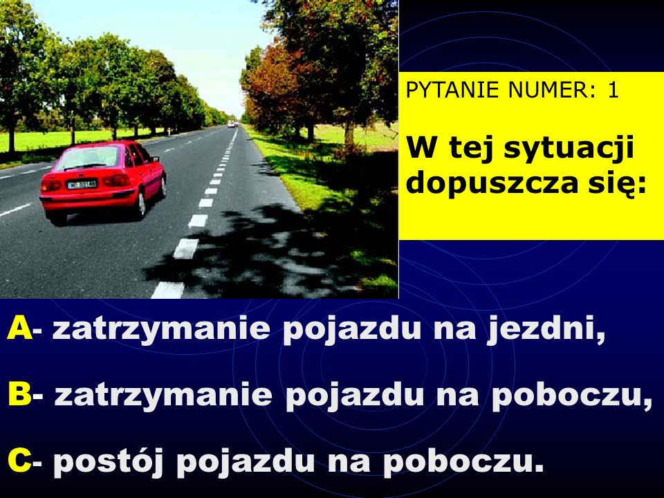 Wylosowano zestaw pytań numer: 15 PYTANIE NUMER: 11 Na tym skrzyżowaniu kierujący pojazdem 1: A - ma pierwszeństwo przed pojazdem 2, B - ma pierwszeństwo przed pojazdem 3, C - przejeżdża ostatni.