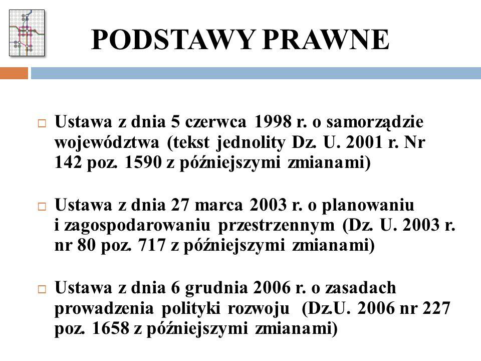 PODSTAWA PRAWNA Uchwała Zarządu Województwa Śląskiego Nr 206 / 16 /IV/2011 z dnia 01.02.2011 roku w sprawie zasad, trybu i harmonogramu prac nad Strategią Rozwoju Systemu Transportu Województwa Śląskiego