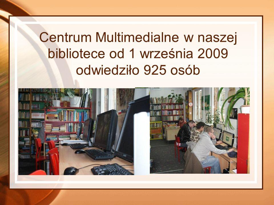 Centrum Multimedialne w naszej bibliotece od 1 września 2009 odwiedziło 925 osób