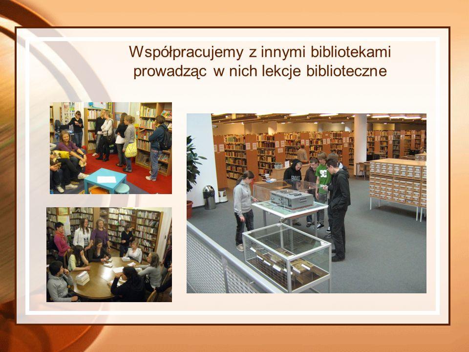 Współpracujemy z innymi bibliotekami prowadząc w nich lekcje biblioteczne
