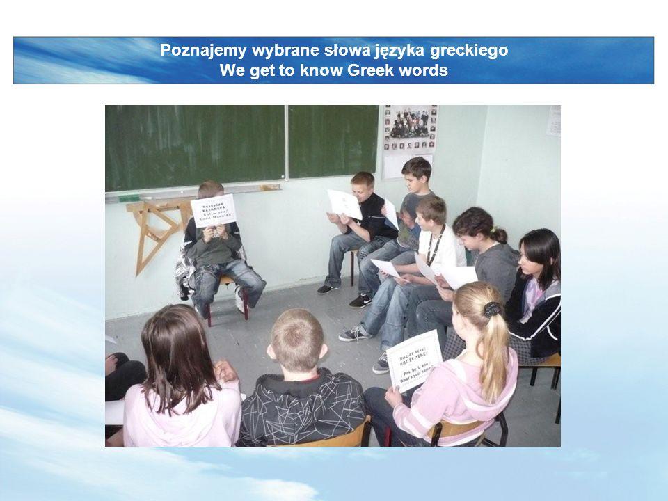 LOGO www.themegallery.com Poznajemy wybrane słowa języka greckiego We get to know Greek words