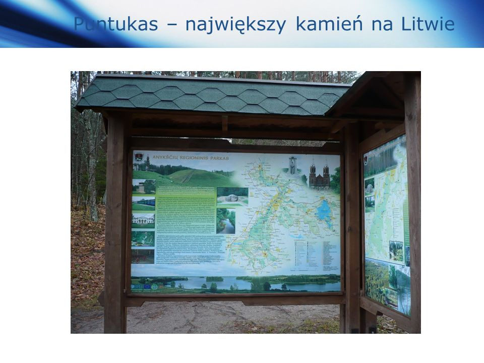 www.themegallery.com Company Logo Puntukas – największy kamień na Litwie