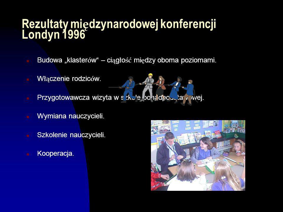 Umowa Europejska 1995 n Nauczyciele obu poziom ó w chc ą wiedzie ć wi ę cej o tym drugim poziomie, jego metodach i systemach.