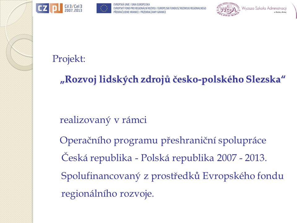 Honorowy patronat Czeskiego Centrum nad studiami podyplomowymi/ Čestná záštita Českého centra nad Postgraduálním studium