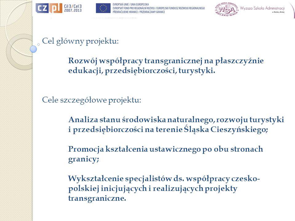 Všeobecný cíl projektu: Rozvoj přeshraniční spolupráce na úrovni edukace, podnikání, cestovního ruchu.