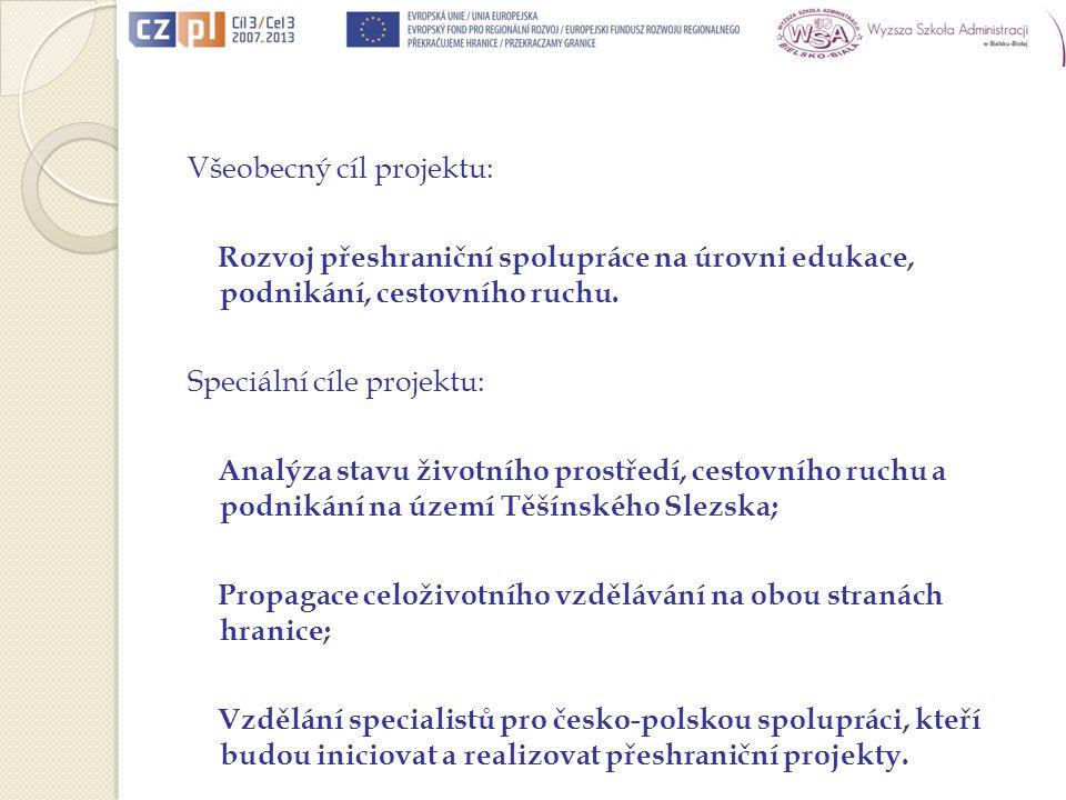 Lider projektu: Vysoká Škola Sociálně správní, Institut celoživotniho Vzdělávání Havířov o.p.s.