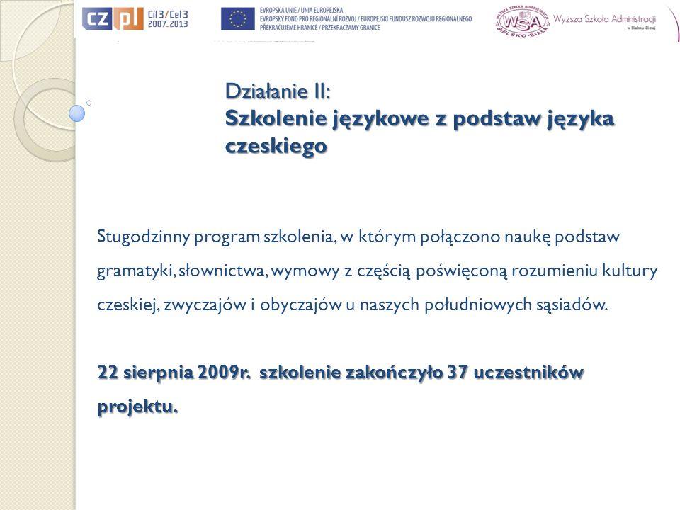 Stugodzinny program szkolenia, w którym połączono naukę podstaw gramatyki, słownictwa, wymowy z częścią poświęconą rozumieniu kultury czeskiej, zwycza