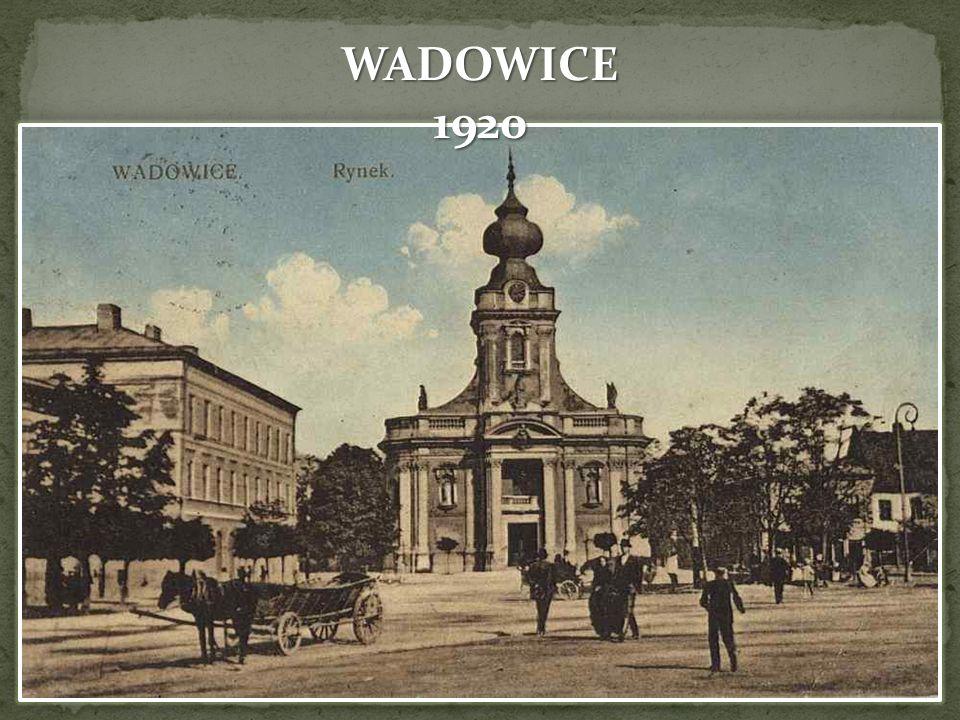 1919 Polska niepodległa po przeszło stuletniej niewoli 7 tysięczne Wadowice – cechy szczególne: bogate życie kulturalne, liczna wspólnota żydowska, 12 Pułk Piechoty.