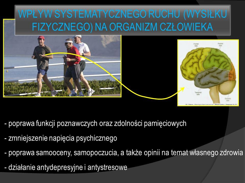 - poprawa funkcji poznawczych oraz zdolności pamięciowych - zmniejszenie napięcia psychicznego - poprawa samooceny, samopoczucia, a także opinii na te