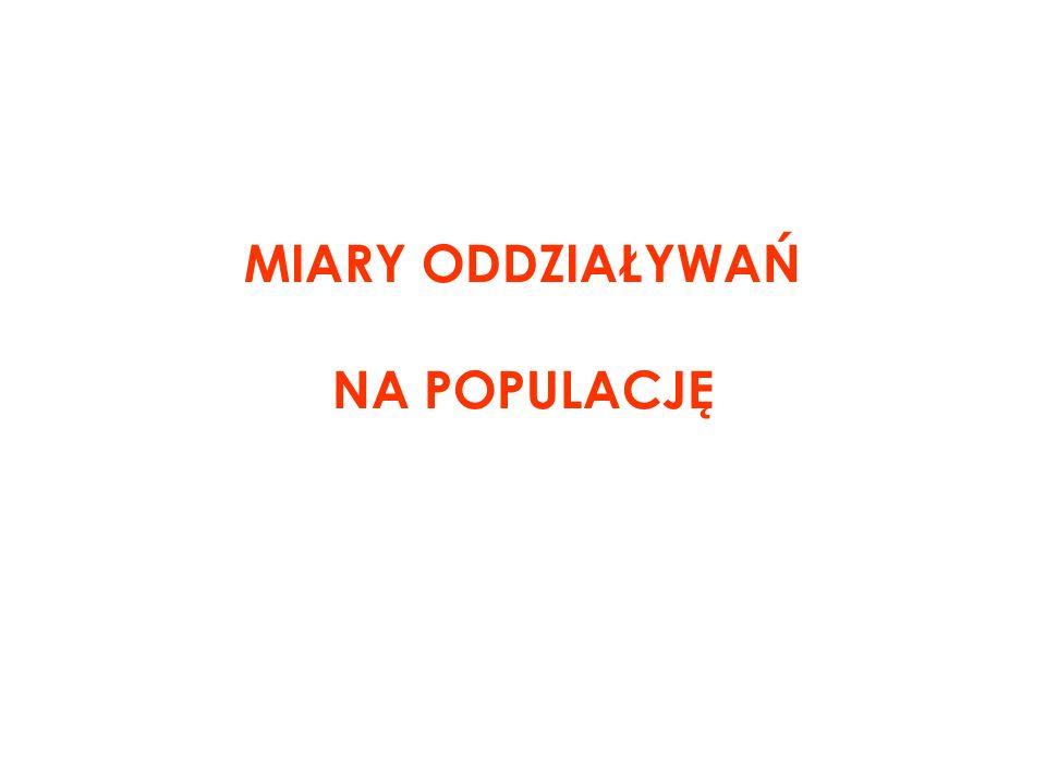 MIARY ODDZIAŁYWAŃ NA POPULACJĘ