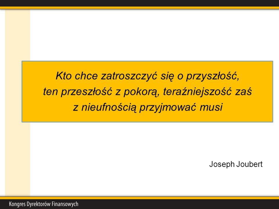 Kto chce zatroszczyć się o przyszłość, ten przeszłość z pokorą, teraźniejszość zaś z nieufnością przyjmować musi Joseph Joubert
