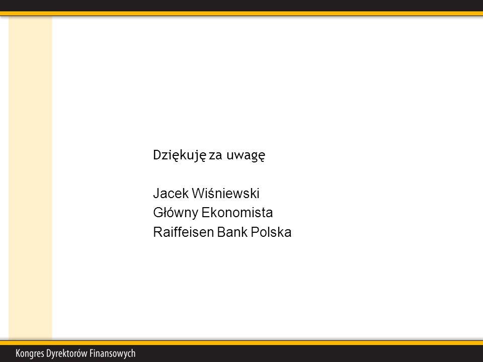 Dziękuję za uwagę Jacek Wiśniewski Główny Ekonomista Raiffeisen Bank Polska