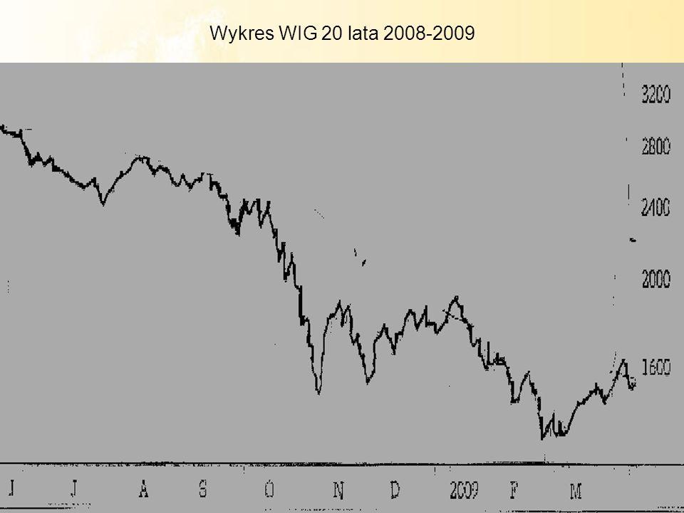 12 Wykres WIG 20 lata 2008-2009