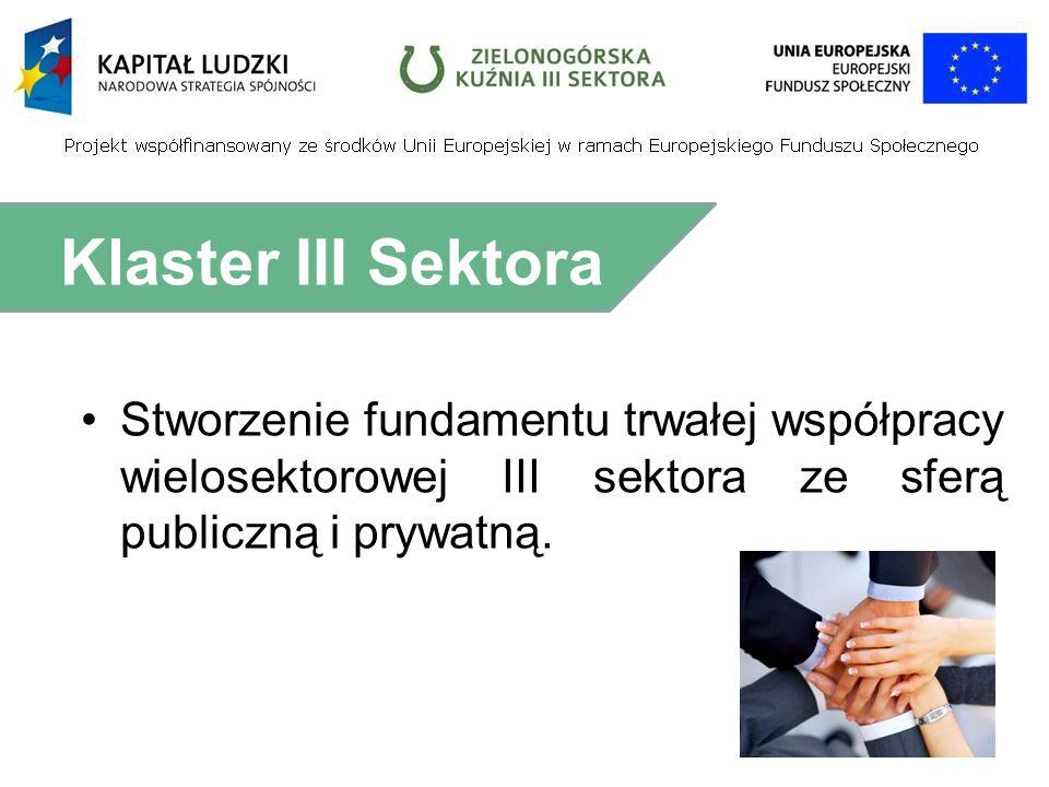 Stworzenie fundamentu trwałej współpracy wielosektorowej III sektora ze sferą publiczną i prywatną.