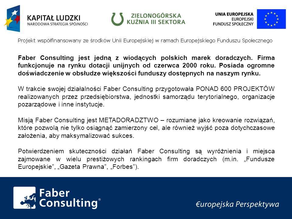 Faber Consulting jest jedną z wiodących polskich marek doradczych.
