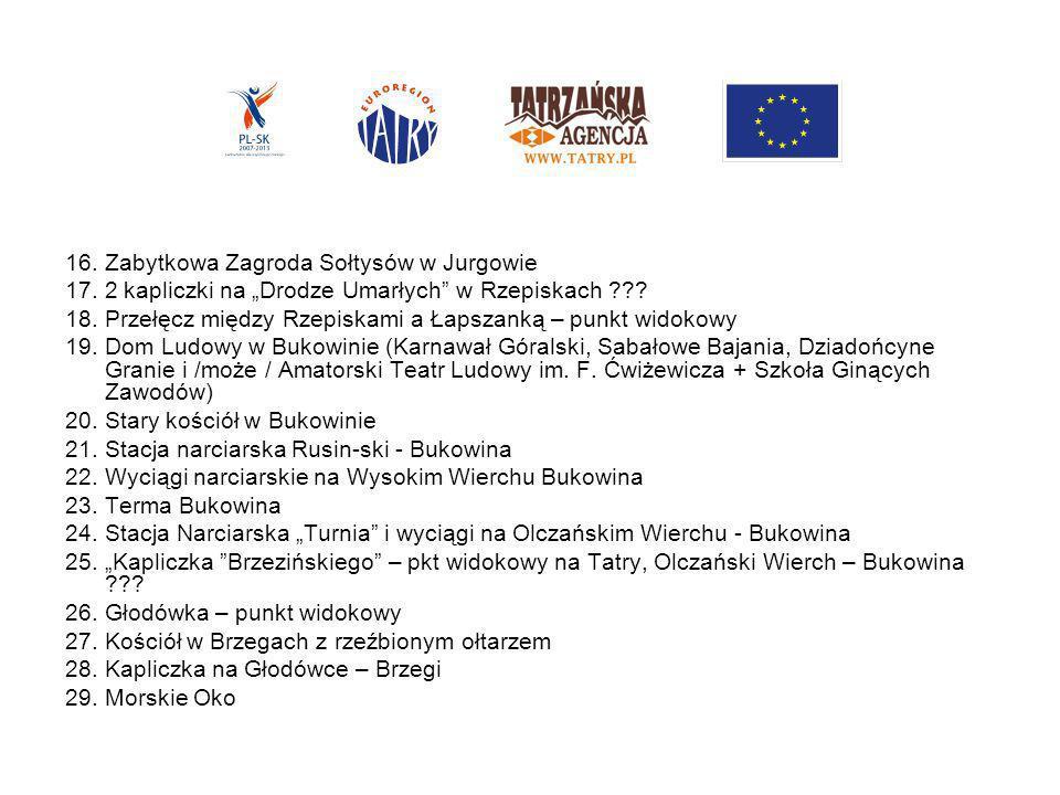 Gmina Poronin 30.Wańkówka – Gminny Ośrodek Kultury w Poroninie 31.