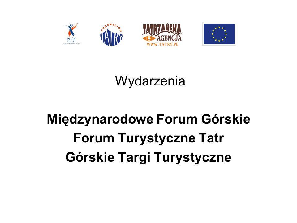 Wydarzenia Międzynarodowe Forum Górskie Forum Turystyczne Tatr Górskie Targi Turystyczne