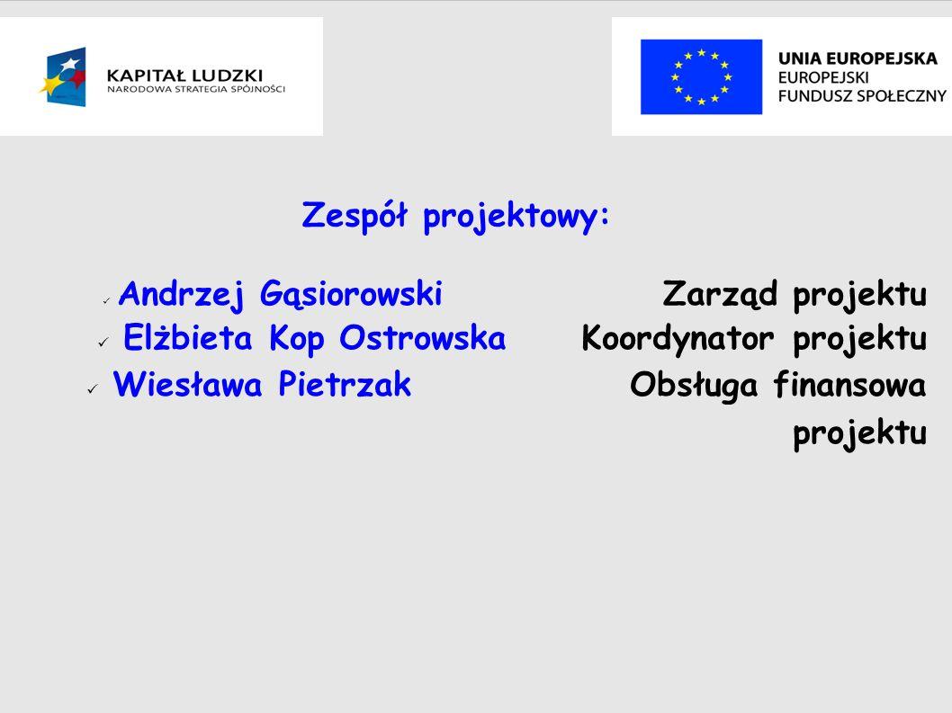 Budżet projektu Koszty ogółem: 185 760, 00 zł Wnioskowane dofinansowanie ze środków UE: 176 007.60 zł Wkład własny: 9 752.40 zł