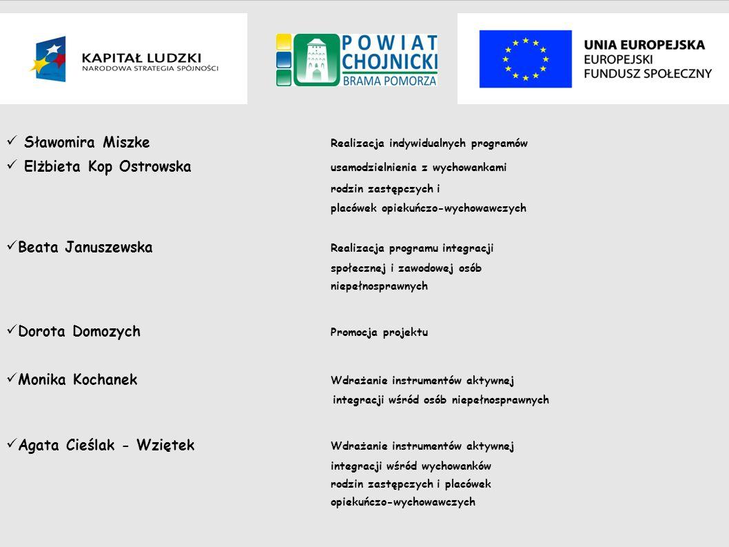 Sławomira Miszke Realizacja indywidualnych programów Elżbieta Kop Ostrowska usamodzielnienia z wychowankami rodzin zastępczych i placówek opiekuńczo-w
