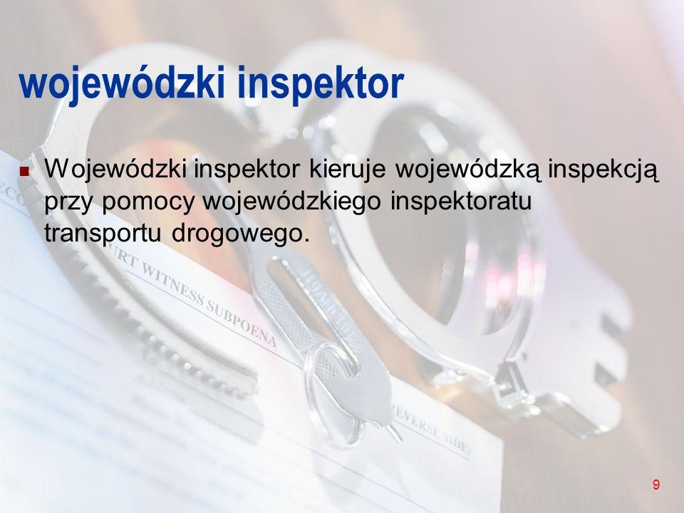 10 uprawnienia inspektora Inspektor wykonując zadania, o których mowa w art.