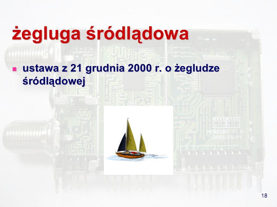 18 żegluga śródlądowa ustawa z 21 grudnia 2000 r. o żegludze śródlądowej ustawa z 21 grudnia 2000 r. o żegludze śródlądowej