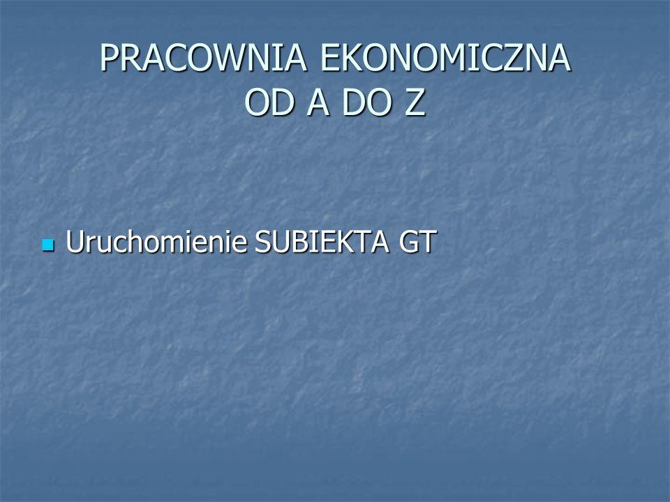 Uruchomienie SUBIEKTA GT Program Subiekt GT po raz pierwszy należy uruchomić z poziomu Rewizora GT.