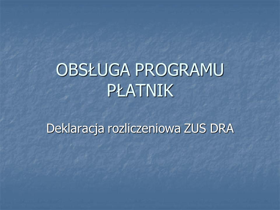 Deklaracja rozliczeniowa ZUS DRA zawiera zbiorcze sumy składek oraz świadczeń finansowanych z ubezpieczeń społecznych wskazanych w raportach imiennych.
