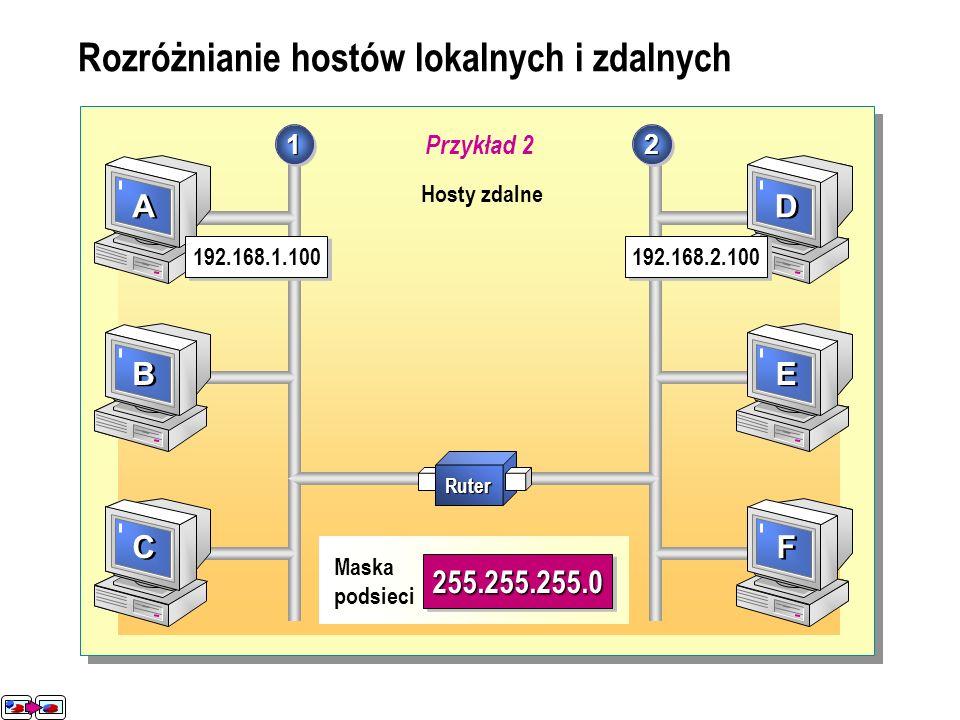 Laboratorium A: Ustalanie klas adresów oraz masek podsieci