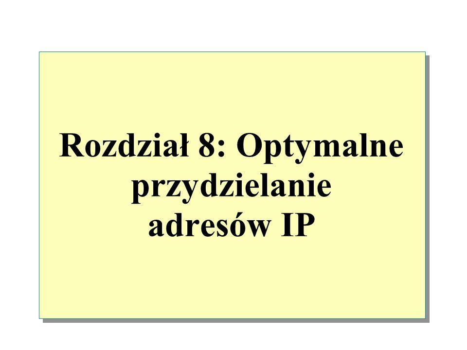 Rozdział 8: Optymalne przydzielanie adresów IP