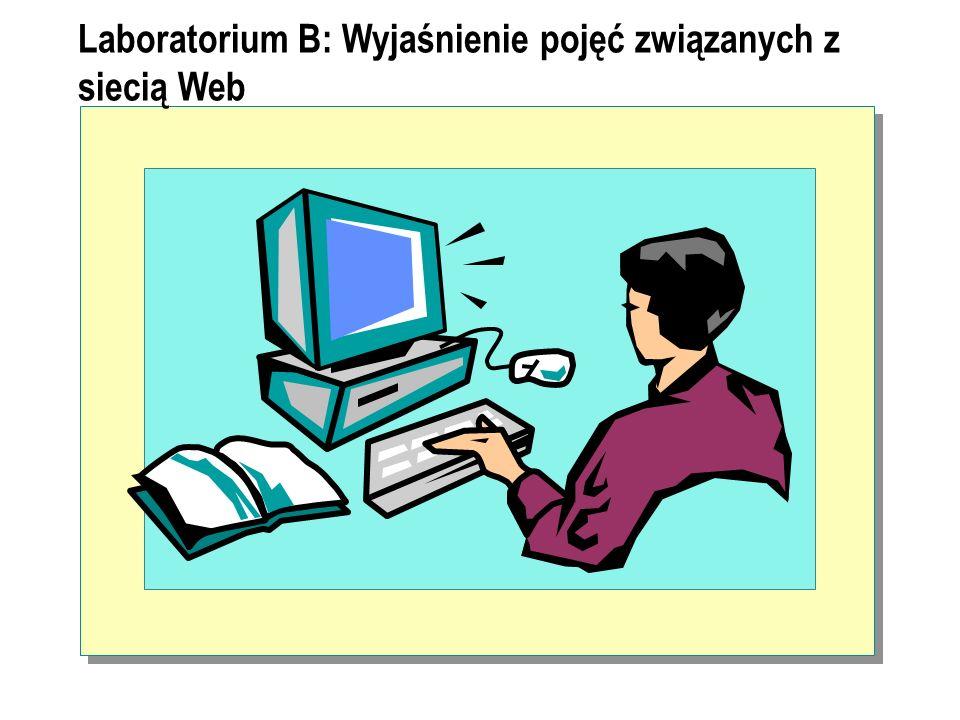 Laboratorium B: Wyjaśnienie pojęć związanych z siecią Web