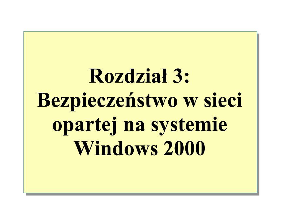 Rozdział 3: Bezpieczeństwo w sieci opartej na systemie Windows 2000