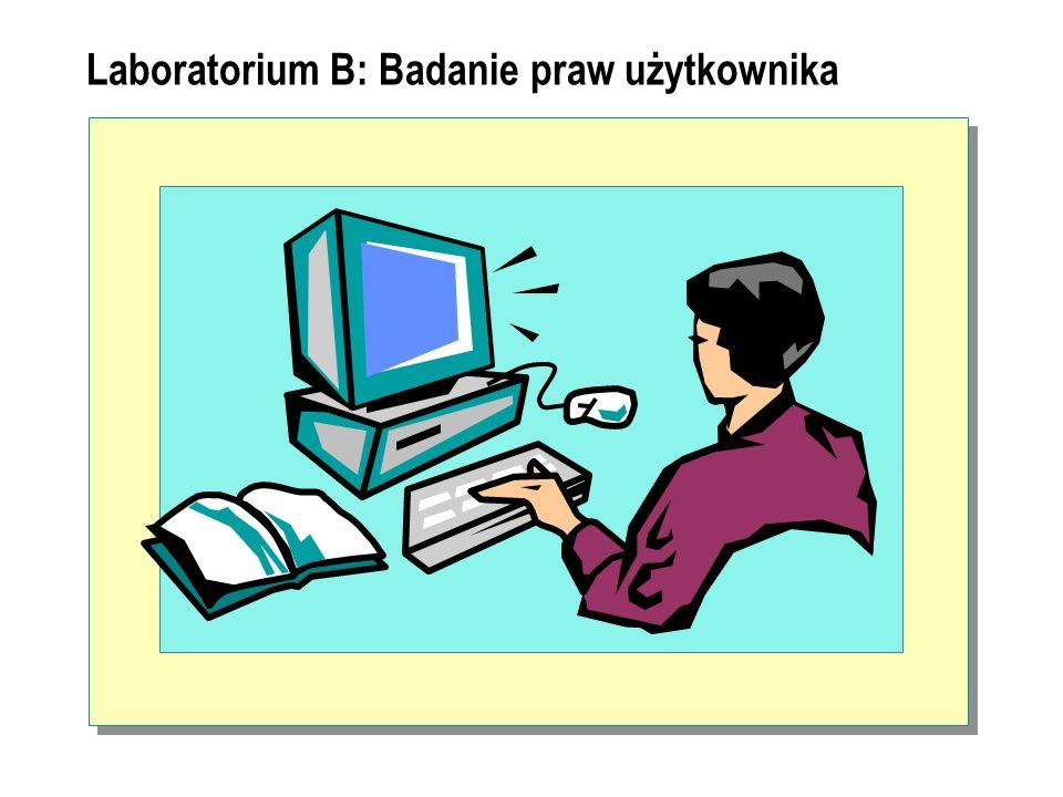 Laboratorium B: Badanie praw użytkownika