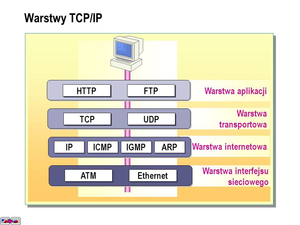 Rozwiązywanie nazw Rodzaje nazw Statyczne mapowanie IP Dynamiczne mapowanie IP Rozwiązywanie nazw w systemie Windows 2000