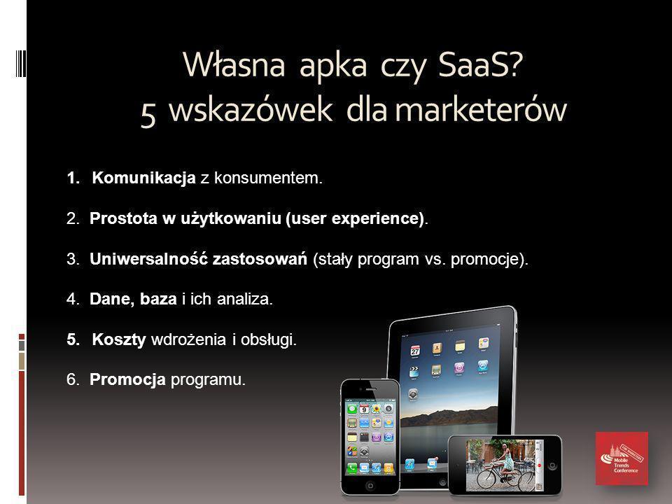 Własna apka czy SaaS. 5 wskazówek dla marketerów 1.Komunikacja z konsumentem.