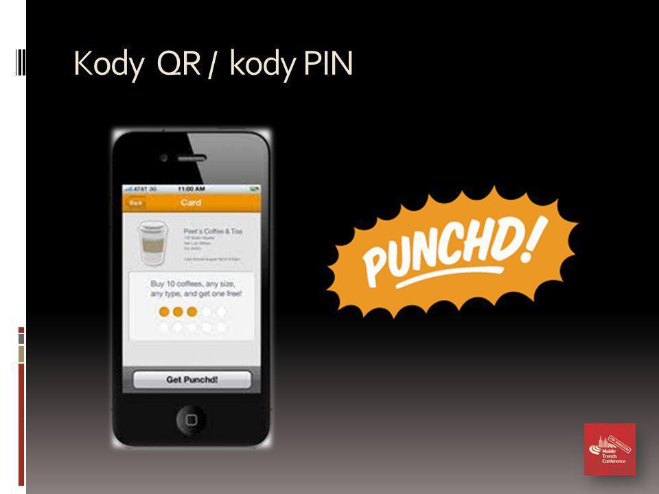 Kody QR / kody PIN
