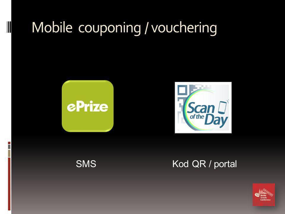 Mobile couponing / vouchering SMSKod QR / portal